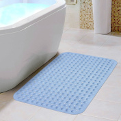 ELOKI Non-slip Bathtub Mats Massaging Bath and Shower, PVC Anti-Bacterial Anti-Slip-Resistant Bathtub Mat with Suction Cups 35 X 69cm