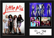 LITTLE MIX Signed Mounted Photo A4 Print