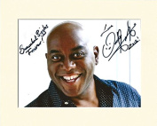 AINSLEY HARRIOTT NO.2 TV CHEF STRICTLY COME DANCING SIGNED AUTOGRAPH PHOTO PRINT IN MOUNT