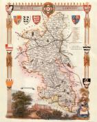 Buckinghamshire Reproduction Antique Map, Retro Reproduction Buckinghamshire Map, Thomas Moule Maps