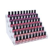 Mobengo 66 Bottles of 6 Tier Acrylic Nail Polish Display Rack Stand Holder Jewellery Makeup Organiser