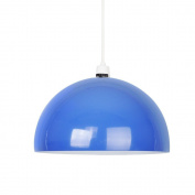 Modern Gloss Royal Blue Metal Dome Ceiling Pendant Light Shade