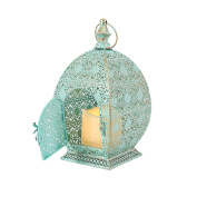 Moroccan Lantern - Flickering Candle - Metal - Battery Operated - Timer - 26cm by Festive Lights