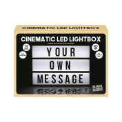 Global Gizmos Battery Operated LED Retro Cinematic Cinema Light Box with Letters, Symbols and Numbers, Plastic, White