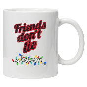 Stranger Things Inspired - Friend's Don't Lie ELEVEN - Novelty White coffee Mug 330ml Ceramic - Perfect Valentines/Easter/Summer/Christmas/Birthday/Anniversary Gift