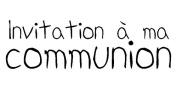 Artemio Type E Text Invitation a Ma Communion Wooden Stamp