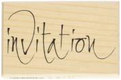 Artemio Type F Text Invitation N2 Wooden Stamp