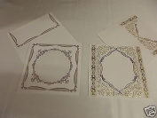 Embossing Cards with Envelopes , Gold and Silver Pack ' E '