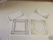 Embossing Cards with Envelopes , Gold and Silver Pack ' B '