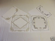 Embossing Cards with Envelopes , Gold and Silver Pack ' C '