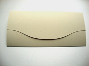 DL 110x210mm Recycled Sand Wallet Invitations - By Cranberry Card Company