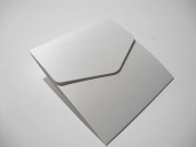 5 x Small Square White Shimmer Bookfold Wallets by Cranberry Card Company