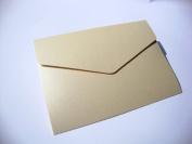 A5 Pearlescent Pocketfold Blank Wedding Invites/Wedding Wallets - Includes plain cream 100gsm envelopes