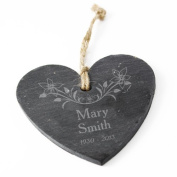In Loving Memory Floral Slate Heart Gifts, and, Cards Wedding, Gift, Idea Occasion, Gift, Idea Personalised