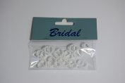 12 x White Pearl effect Heart Ribbon Slider / Buckle for Crafting, Card Making or Wedding Invitations