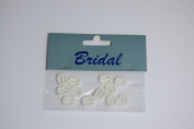 12 x Ivory Pearl effect Square Ribbon Slider / Buckle for Crafting, Card Making or Wedding Invitations