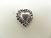 x10 Deluxe Heart Pearl & Diamante Rhinestone Embellishments