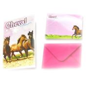 Box invitations 'Passion Chevaux' .