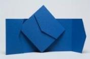 5 x Regency Blue Matt Pocketfold Invites 150mmx150mm