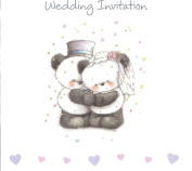 10 Luxury Wedding Day Card Invites Invitations & Envelopes Cute