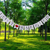 JUST MARRIED Wedding Decoration Banner Props Bunting Card