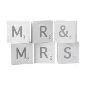 Heaven Sends Mr & Mrs Letter Blocks (39 x 5.5 x 2cm)