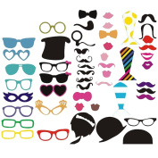 58Pcs Photo Booth Mask Moustache On A Stick Fun Party Wedding Decorations