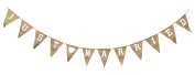 Lady T Just Married Bunting Hessian Wedding Decoration