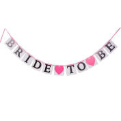 JETTINGBUY Bride to Be Wedding Banner Bride Garland Wedding Sign Photo Prop Wedding Party Decoration