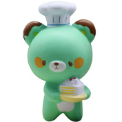 VNEIRW Cute Chef Bear Jumbo Scented Squishies Slow Rising Baby Squeeze Soft Toys Stress Relief Toys