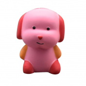 VNEIRW Pink Cute Dog Jumbo Scented Squishies Slow Rising Baby Squeeze Soft Toys Stress Relief Toys