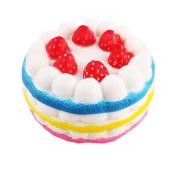 VNEIRW Strawberry Cake Jumbo Scented Squishies Slow Rising Baby Squeeze Soft Toys Stress Relief Toys