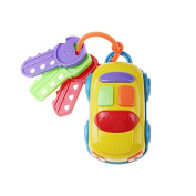 Skyoo Push and Go Mini Musical Car With Keys Alarm Real Sounds Baby Early Educational Puzzle Toy 6-48 Months