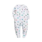 Hzjundasi Baby Boys Girls Cotton Striped Footed Pyjamas Newborn Infant Fashion Long Sleeve Romper Winter Autumn Bodysuit Sleepwear Clothes Outfits
