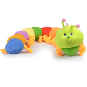 Gotoole Cute Colourful Inchworm Caterpillar Soft Kids Plush Doll Long Throw Pillow Toy