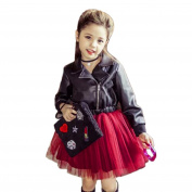 squarex Fashion Baby Girl Kid Leather Gauze TuTu Dress Party Dress Clothes