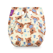 Size Milovia (Prefold) – Cute Teddy Nappy Over Reusable Nappy Over Trousers, Best Quality Soft Outer