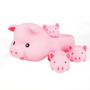 Mumustar Baby Children Kids Cute Shower Bathing Toys Tub Bathtub Pool Swimming Cute Pink Pig Bathtime Playing Fun Toys