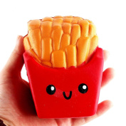 Stress relief toys for adults,Festiday 12CM French Fries Cream Scented Squeeze 6 Second Slow Rising Toy