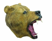 P 'tit clown 40065 Full Latex Adult Mask Brown Bear, One Size