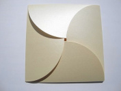 Lily Pad Card/Petal Card/Butterfly Card on Pearlised Shimmer Card with 155x155mm envelopes -
