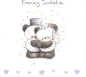 10 Luxury Wedding Evening Card Invites Invitations & Envelopes Cute