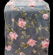 PINK BLOSSOM ORGANZA CHAIR CAP / TABLECLOTH OR TABLE RUNNER WEDDING CHAIRS EVENT