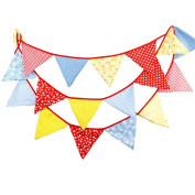 Outflower 4.1-Metre Double-Sided Bunting - 18 Flags for Wedding Party Decor