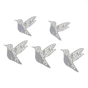 50Pcs Pearl Paper Table Name Place Card Wine Glass Bird Shape Wedding Favour