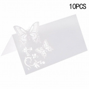CHIC*MALL Hollow Butterfly Invitations Reception Decor Name Place Cards