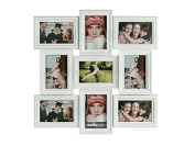 9 Multi Photo Frame Plastic Collage Picture Aperture Wall Photo Frame White Wilsons Direct