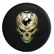 Skull with Soccer Ball Bursting out Futbol Black 70cm
