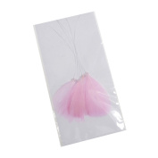 S & W Bridal B2156PLPK | Feather Pick | 7cm | Pack of 6 | Pale Pink