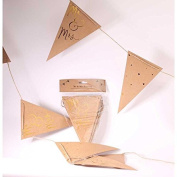 Kraft with Embossed Gold Mr & Mrs Bunting